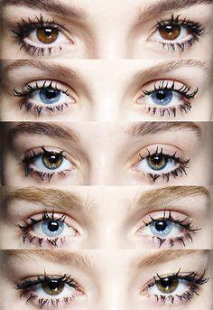 """Clogged"" lashes by Pat McGrath at Prada Fall/Winter 2014 Kiss Makeup, Makeup Art, Beauty Makeup, Eye Makeup, Hair Makeup, Hair Beauty, Beauty Magic, Beauty Book, Spider Lashes"