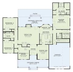 Traditional Plan: 2,261 Square Feet, 4 Bedrooms, 2.5 Bathrooms - 110-00381 switch garage and master