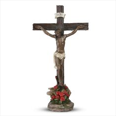 "Our newest religious themed figurine. This one continues to expand upon our collection of Jesus themed figurines. Our ""Take Up Your Cross"" figurine was very popular and this is a large crucifixion figurine for your home, church or office. Something to help you stay focused, remember the Messiah, his sacrifice and the lessons that he taught the world through his service. #blackjesus #christianity #church #blackart #jesus..."