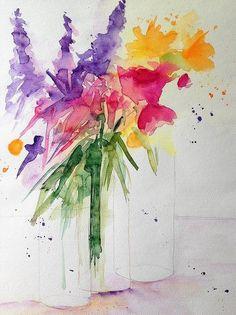 Colorful Bouquet Art Print by Britta Zehm