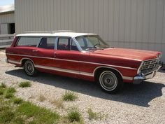 Ford Galaxie Ranch Wagon 1967 - so awesome. Our's was dark blue. My dad did rebuilt the motor once, shipped it overseas and traveled all over Europe for 3 yrs. while stationed in Germany. Shared it as teenagers , it was vandalized in 1979. My dad took it hard. It went across the state of Texas multiple times and Grand Canyon.We slept in it overnight a few times lost in Europe looking for a KOA.