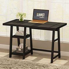 "Tribesigns Modern Writing Desk, 47"" Computer Desk Study T..."