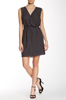 Dex Sleeveless Polka Dot Dress
