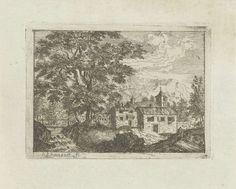 Jean Joseph Hanson | Versterkt huis bij een waterval, Jean Joseph Hanson, 1741 - 1799 |