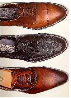 cap toe, wing tip and simple oxford