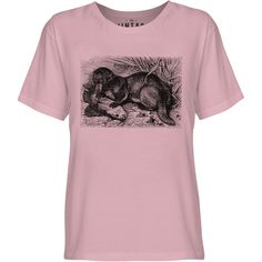 Mintage Otter with Fish Youth Fine Jersey T-Shirt