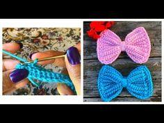 🎀Como Hacer Un Moño Para Gorro, Diadema, Blusa, etc💓 Fácil y rápido 💓 - YouTube Crochet Bow Pattern, Crochet Bows, Crochet Clothes, Crochet Flowers, Crochet Patterns, Baby Knitting Patterns, Sewing Patterns Free, Crochet Videos, Bandeau