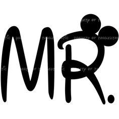 Mr. Wedding DIY Iron Printable Appliqué Wedding Digital Disney Vacation mickey Mouse Shirt Tote Sweatshirt ($5) found on Polyvore