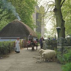 Bunratty Castle and Folk Park - Bunratty Village, Co Clare - Within the grounds of Bunratty Folk Park 19th century Irish life is vividly recreated. Set on 26 acres, the impressive park features over 30 buildings in a 'living' village and rural setting.
