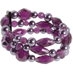 Purple bead stretch bracelet ($9.46) ❤ liked on Polyvore featuring jewelry, bracelets, accessories, purple, women's jewellery, women+jewellery, vicenza jewelry, beads jewellery, purple jewelry and facet jewelry