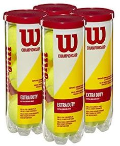 Wilson Championship Regular and Extra Duty Tennis Balls Tennis Open, Head Tennis, Fed Cup, Davis Cup, Australian Open, The Championship, Performance Parts, Above And Beyond, Tennis Players