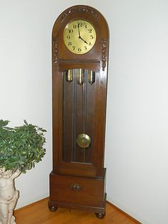 ANTIQUE DUFA LONGCASE GRANDFATHER CLOCK WESTMINSTER CHIME Rare German Made Clock