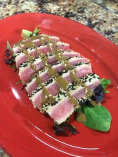 Sesame Seared Ahi Tuna w/ Wasabi Vinaigrette Wednesday, March 18, 2014