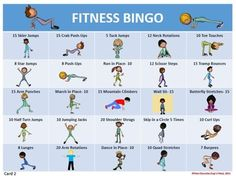 FITNESS BINGO- 30 DIFFERENT BINGO CARDS AND TEACHER TOOLS - TeachersPayTeachers.com