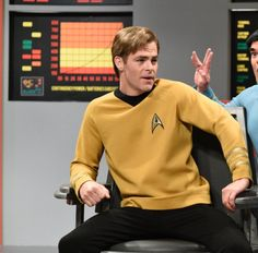 SNL ~ May 6th, 2017.  Chris Pine spoofing William Shatner (and himself).