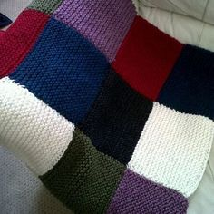 Big Cosy Patchwork Knitted Blanket £62.00