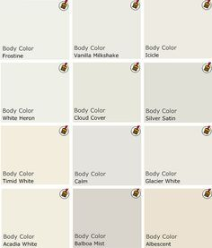 "sanders whites by Sterin, He says that if you have great architecture and lots of light, white can be good, but again, not pure white. ""Off white is rich and soft."" I ask for his favorite whites, and this is the palette he chooses:"