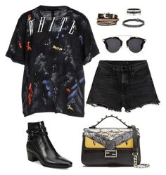 """""""Untitled #256"""" by gr20gk on Polyvore featuring Alexander Wang, Off-White, Yves Saint Laurent, Fendi, David Yurman, Cartier, Givenchy and Christian Dior"""