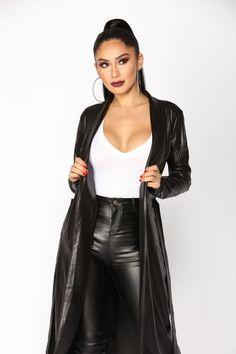 Ready For Anything Coated Jacket - Black