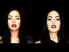 Megan Fox Makeup Tutorial--she does some weird stuff but it works!