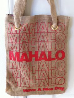 Organik Mahalo Coffee Bean Tote Bag 1d80d21b5094a