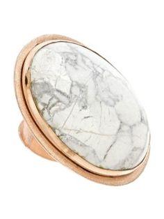 Big Chunk of White Ring by Bita Pourtavoosi Jewelry