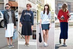#kamzakrasou #sexi #love #jeans #clothes #dress #shoes #fashion #style #outfit #heels #bags #blouses #dress #dresses Nový trend – tenisky k sukni - KAMzaKRÁSOU.sk