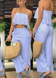 Trendy moda femenina 2019 pantalones ideas two pieces, pants, ideas, dresses Casual Chic, Casual Wear, Stylish Outfits, Fashion Outfits, Cute Dresses, Summer Dresses, African Dress, Streetwear, Spring Outfits