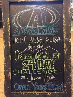 Chalkboard advocare promo