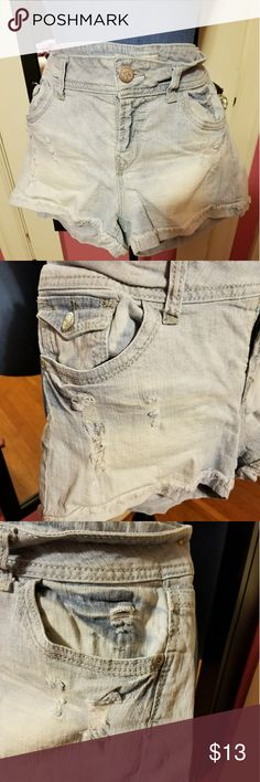 Daisy duke shorts,  distressed Sweet little pair of short shorts  denim No Boundaries Jeans
