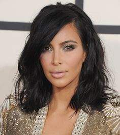 Get Kim Kardashian's Grammy Awards Hair and Makeup Look