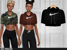 Crop t-shirt found in tsr category 'sims 4 female everyday' Sims 4 Mods Clothes, Sims 4 Clothing, Sims Mods, Sims 4 Tsr, Sims Cc, The Sims 4 Cabelos, Pelo Sims, The Sims 4 Pc, Sims 4 Gameplay