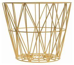 Korb Wire Medium Ø 50 x H 40 cm, Gelb von Ferm Living finden Sie bei Made In Design, Ihrem Online Shop für Designermöbel, Leuchten und Dekoration.