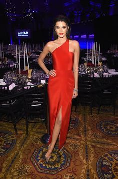 Kendall Jenner at the amfAR New York Gala