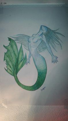 mermaid Unicorns And Mermaids, Sprites, Moose Art, Angels, Fairy, Drawings, Angel, Fairies, Sketches