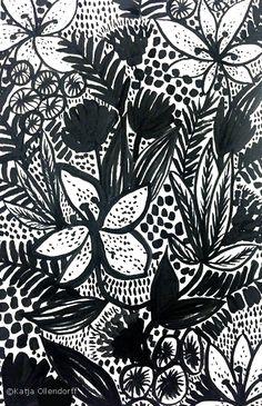 Katja Designs - Read more on my blog #pattern #illustration #surfacepatterndesign