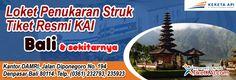 Tempat penukaran resmi tiket kereta api wilayah Bali & sekitarnya