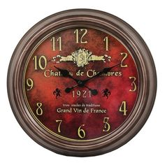 I pinned this Chateau Wall Clock from the Wall-to-Wall event at Joss and Main!