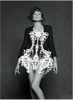 Milla Jovovich in Karl Lagerfeld's The Little Black Jacket Book, 2012