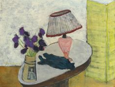 Milton Avery (1885-1965) - Flowers and Lamp (1942)