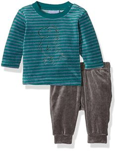 Overall, Sweatshirts, Sweaters, Fashion, Green Stripes, Baby Boys, Pajama Set, Guys, Gray