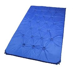 Highlander Inflatable Sleepeze Airbed Double Flocked Travel Guest Mattress Blue