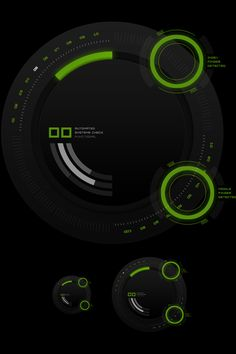 HUD Touch UI Elements by Emile Rohlandt, via Behance