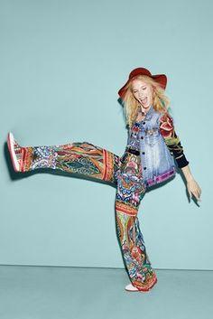 Jeans & Pants Desigual One piece Menta