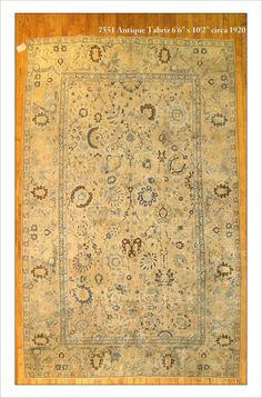 """Tabriz  Rug Number: 7551 Size: 6'6"""" x 10'2""""    Rugs R Us Online,"""