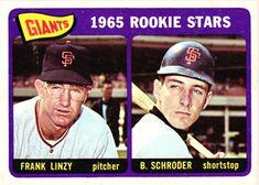 589 - Giants Rookies - Frank Linzy - Bob Schroder RC