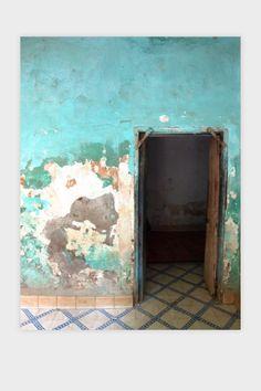 turquoise ditressed wall, morocco ©emmaburgon emmaburgon.com