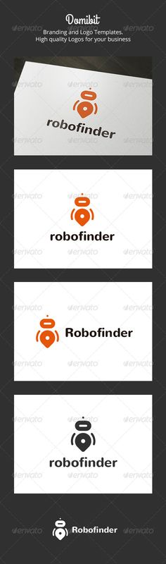 Robofinder: is a logo that can be used in applications software and maps, maps in websites in desarolladoras robotics companies, a