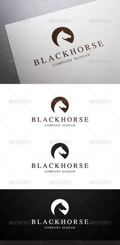 Black Horse Logo #GraphicRiver