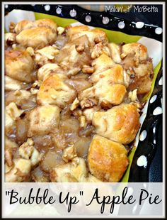 "This is a quick and easy ""bubble up"" casserole with all the flavors of apple pie."